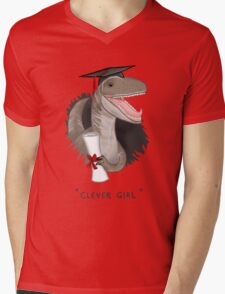 """Clever Girl"" Mens V-Neck T-Shirt"