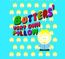 Butters very own pillow by cthulupie
