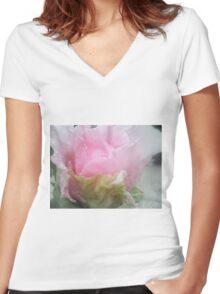 Femininity! Women's Fitted V-Neck T-Shirt