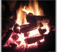 Clambake Family Reunion Heart Fire by Debbie Robbins