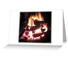 Clambake Family Reunion Heart Fire Greeting Card