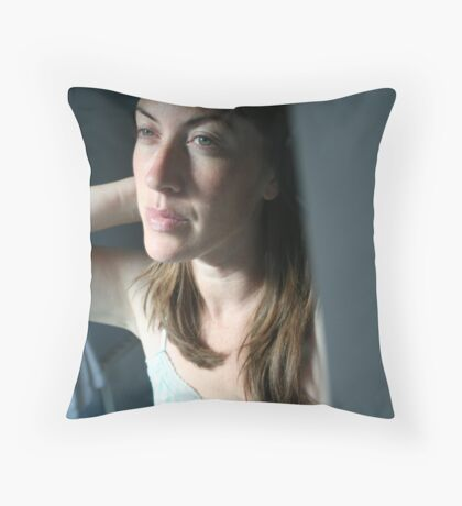 Pull Back the Curtains Throw Pillow