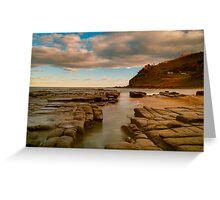 Glorious Garie beach Greeting Card