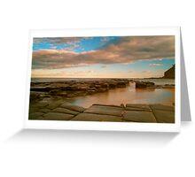 Garie beach dusk Greeting Card