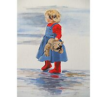 Teddy and Red Wellies Photographic Print