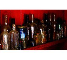 Barn Bottles Photographic Print