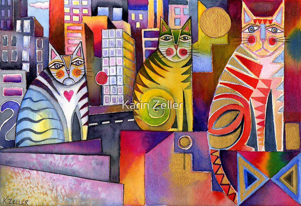 City Cats 2 by Karin Zeller
