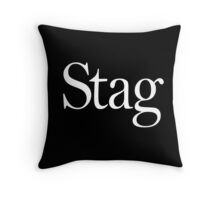 STAG, Stag night, Stag Party, Bachelor, Wedding, Wed, Marry, Married Throw Pillow