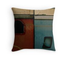 Rusty Land Rover Throw Pillow