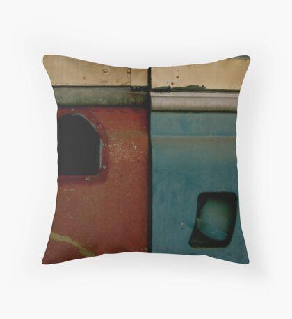 Rusty Land Rover Throw Pillow