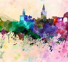 Seville skyline in watercolor background by paulrommer