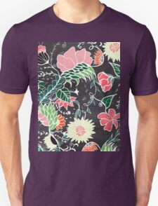 Pastel preppy hand drawn garden flowers chalkboard T-Shirt