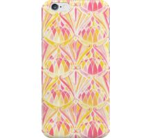 Art Deco Pattern in Pink and Orange iPhone Case/Skin