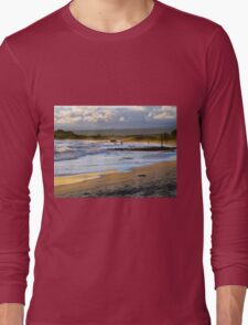 Beach Fun At Dusk On Isabela In The Galapagos Long Sleeve T-Shirt