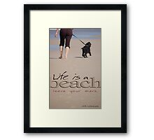 Life Is A Beach © Vicki Ferrari Framed Print