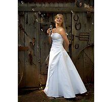 Bride with Bubbles Photographic Print