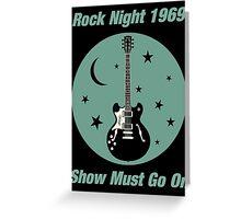 Rock Night 1969 Greeting Card
