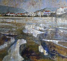Staithes From The Harbour by Sue Nichol