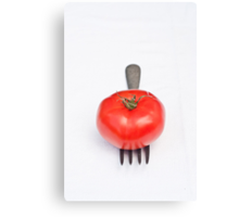 Tomato and Fork Canvas Print
