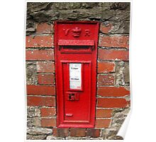 Old Victorian postbox, Usk, Wales, UK Poster