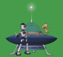 My Best Friend .. a robots tale One Piece - Short Sleeve