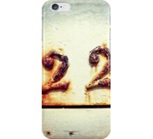 Twenty Two iPhone Case/Skin