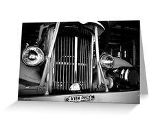 Engine grill in B&W Greeting Card