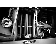 Engine grill in B&W Photographic Print