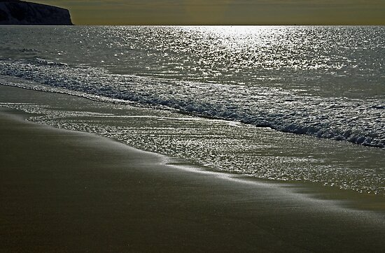 Morning Light on Sandown Beach by Rod Johnson