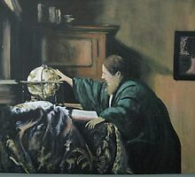 The Geographer by Johannes Vermeer by Jsimone