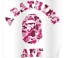 A BATHING APE (PINK CAMO) Poster