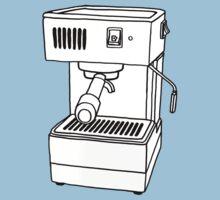 Espresso Machine Doodle One Piece - Short Sleeve