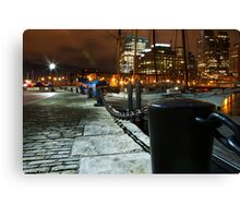 Boston Pier at Night Canvas Print