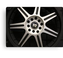Hub Cap Art  Canvas Print