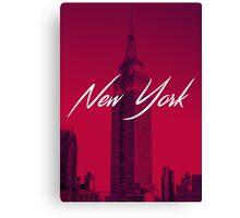 Red New York Canvas Print