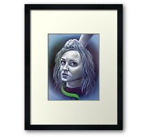 The Girl with the Green Ribbon Framed Print