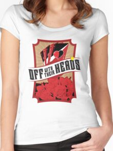 Off with their Heads! Women's Fitted Scoop T-Shirt