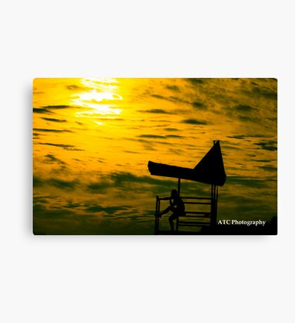 Tough Day at Work Canvas Print
