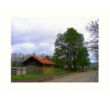 Rural. Antilhue -Chile. Art Print