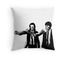 Vincent & Jules Skull Art Throw Pillow