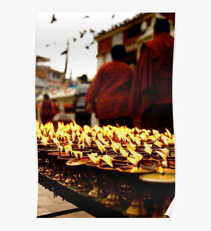 Butter Candles, Boddah - Kathmandu Poster