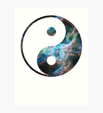 Tarantula Nebula | Yin and Yang Symbol Art Print