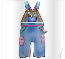 Blue Overalls Poster