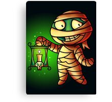 Mummy Cartoon Character Digital Painting Canvas Print