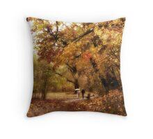 Autumn Promenade Throw Pillow