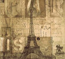 Paris Collage...from my journal by dawne polis