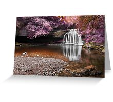 Fantasy Falls - West Burton Greeting Card