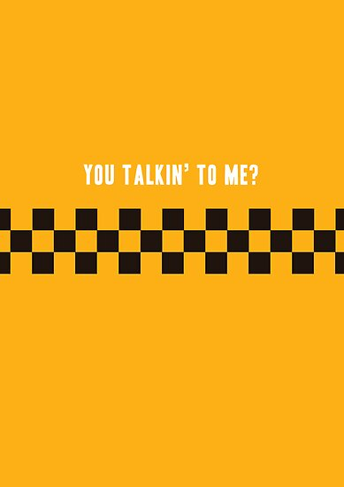Minimalist Movie Poster: Taxi Driver by Christopher Wardle-Cousins