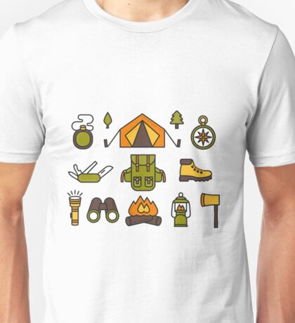 Camping Pattern Unisex T-Shirt