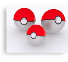 Pokeballs Canvas Print